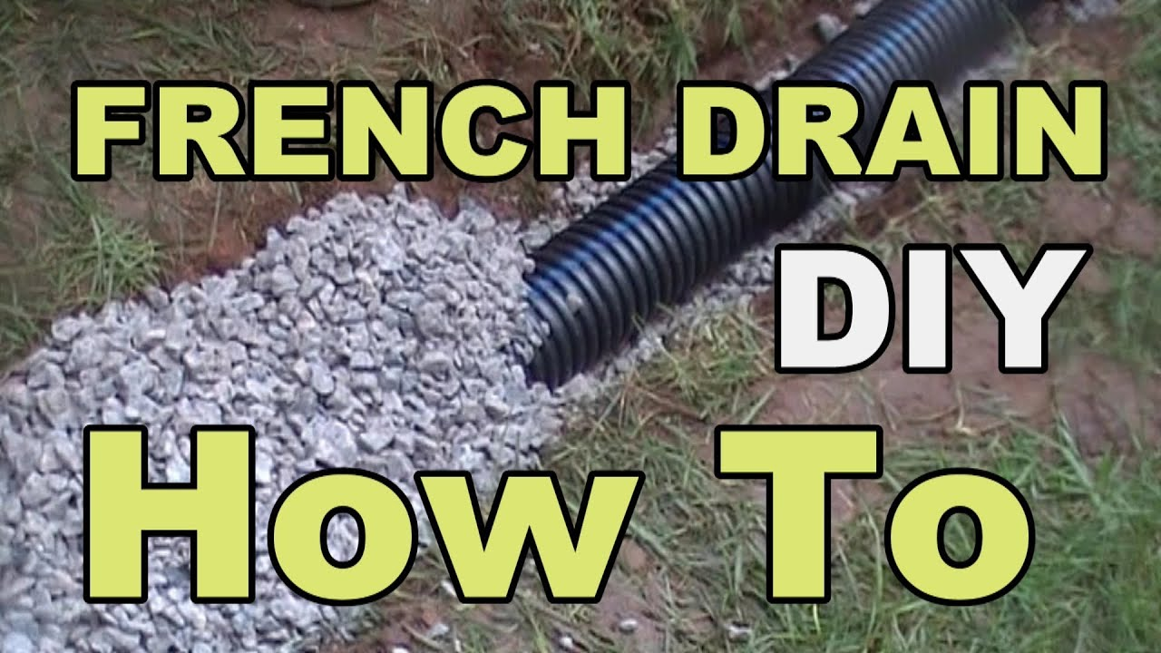 Diy french drain project youtube for How do i find drainage plans for my house