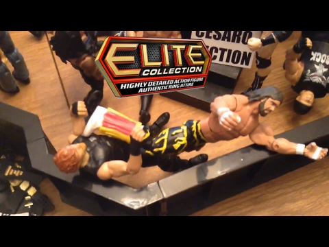 WWE action figure set up - Elite