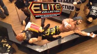 WWE action figure set up - Elite