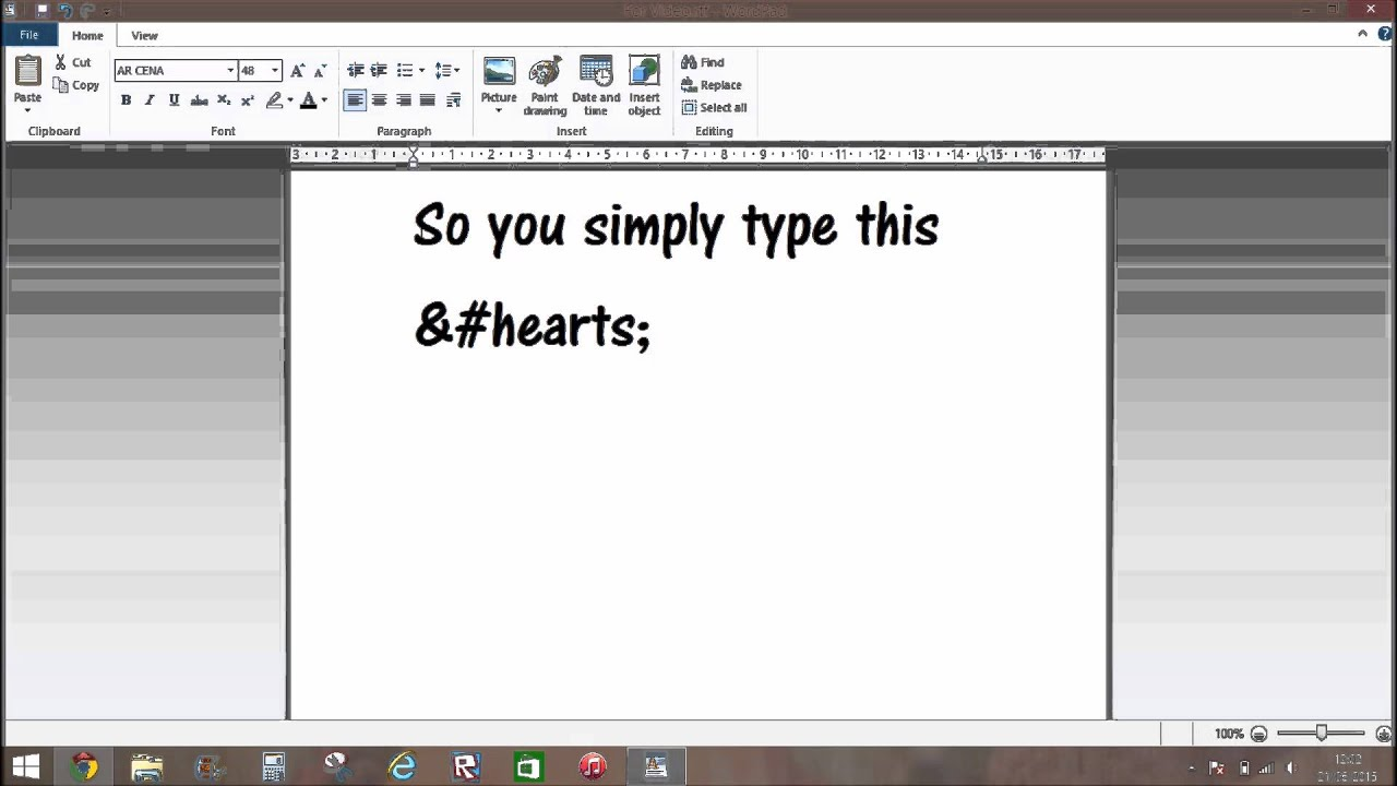 Msphow To Type Hearts On Mspno Copypaste Youtube
