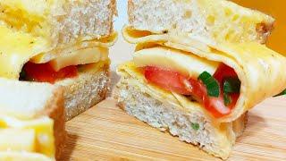 Быстрый ЛЕНИВЫЙ ЗАВТРАК Горячий Бутерброд с сыром и помидорами Рецепт от Худышка готовит