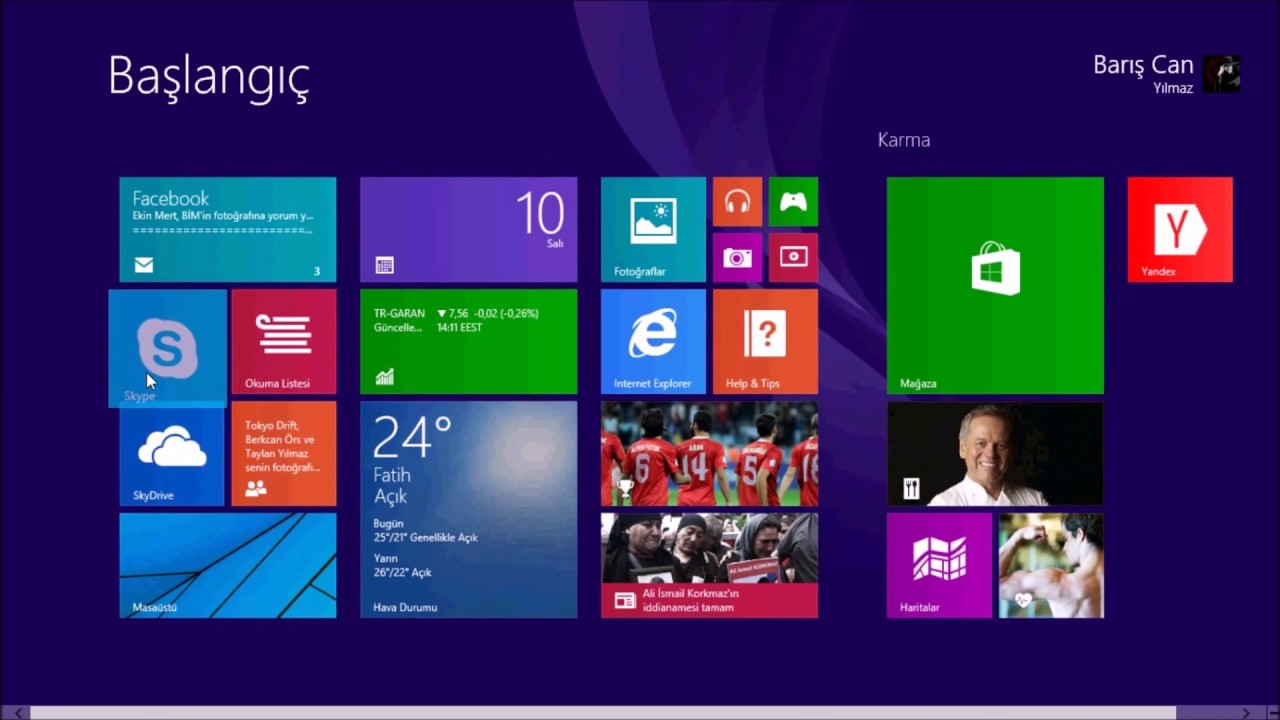 Windows 8 1 Rtm K U0131sa Bir  U0130nceleme