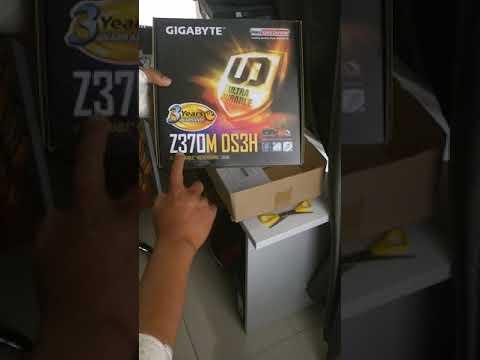 Unboxing GIGABYTE Z370M DS3H Motherboard