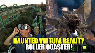 Haunted Virtual Reality Roller Coaster! Rage of the Gargoyles VR at Six Flags Over Texas
