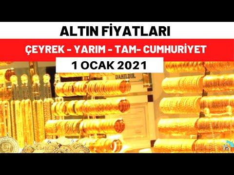Gram altın kaç lira? Çeyrek altın 2021 fiyatı ne kadar? 1 Ocak 2021 güncel altın