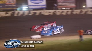 Highlights: World of Outlaws Late Model Series Farmer City Raceway April 18th, 2015