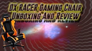 armadaninja unboxes a  dx racer gaming chair  dx racer gaming chair review