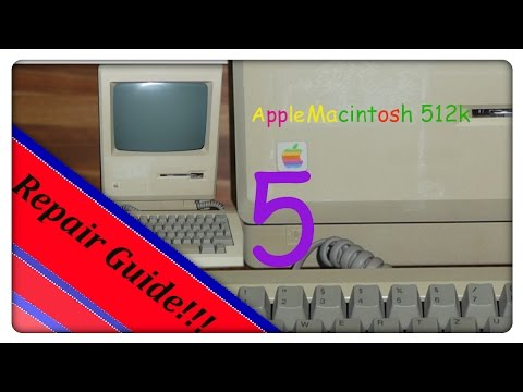 Mac 512k restore project -- Part 5 --  Macintosh Sony 800k floppy disk drive repair attempt!!