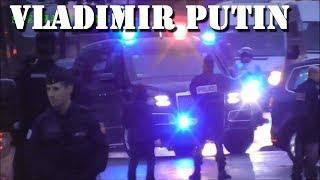 President Vladimir Putin FULL Motorcade 2018 Paris (11-11-18)