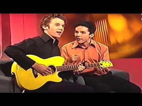 """Ylvis on """"Senkveld med HC og Tommy"""" in 2002"""