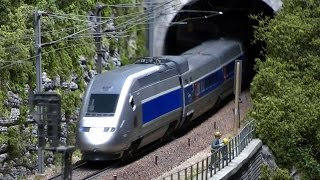 Nearly realistic model train layout from France