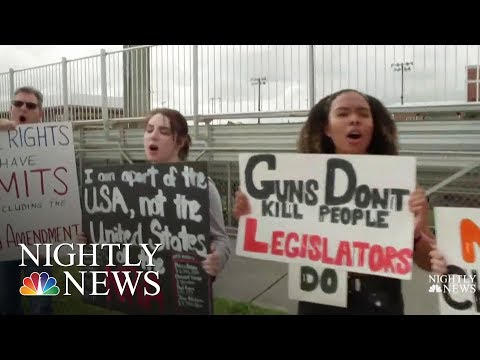 Students Seize Control Of Gun Debate, Plan Walkouts And March   NBC Nightly News
