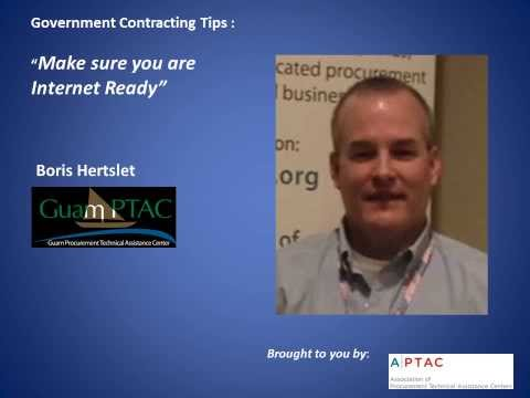 Government Contracting Tip - Be Internet Ready