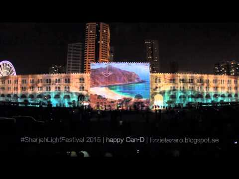 Sharjah Light Festival 2015 - Al Qasba Full Video