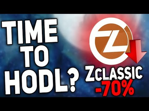 Best Time to buy ZClassic (Fork ZCash) Keep Calm And HODL!