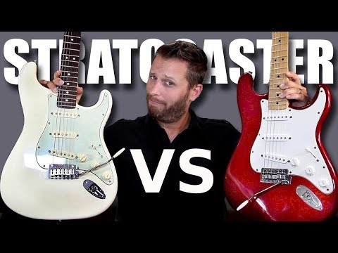 MEXICAN STRAT Vs AMERICAN STRAT - Guitar Tone Comparison!