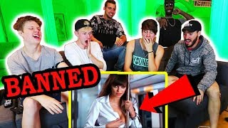 REACTING TO BANNED COMMERCIALS w/ MY ROOMMATES
