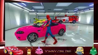 Aprende Los Colores Con La Patrulla De La Pata, El Auto De Hello Kitty, Los Autos De Disne  part 34