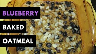 Baked Blueberry Oatmeal Recipe for weight watchers (7SP Total)