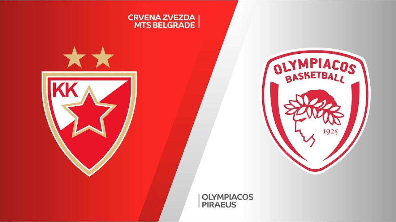 Crvena Zvezda mts Belgrade - Olympiacos Piraeus Highlights | EuroLeague, RS Round 15