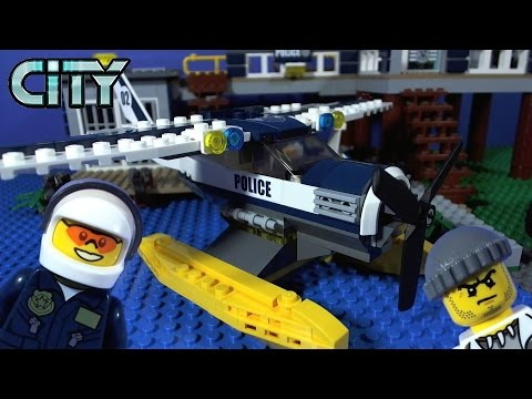 LEGO City Swamp Police Water Plane Chase 60070 - YouTube
