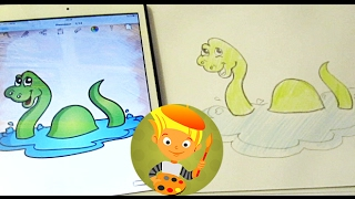 How to draw cartoon dinosaurs and coloring your favorite dinosaur! I love to draw a Plesiosaur