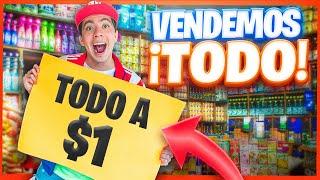 PUSIMOS UNA TIENDA Y VENDIMOS TODO A $1 PESO