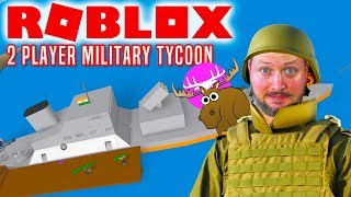 VI ER I KRIG! - Roblox 2 Player Military Tycoon Dansk