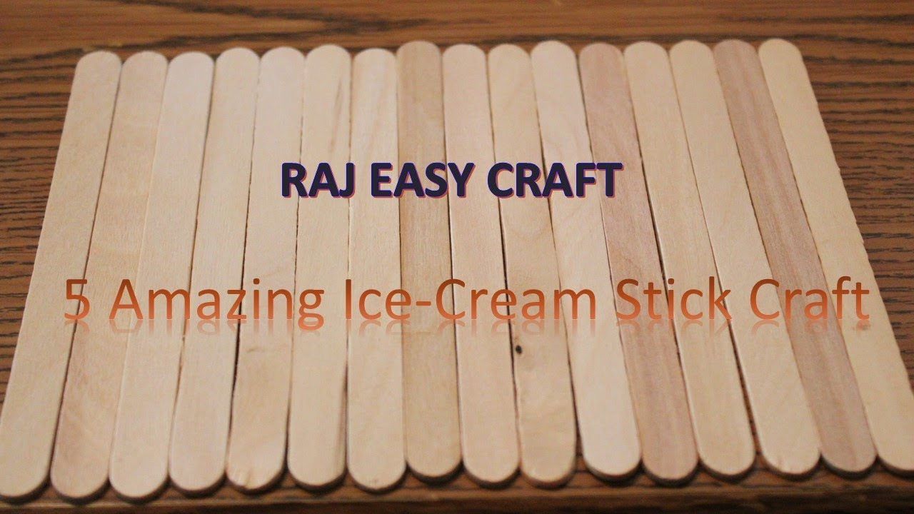 amazing ice cream stick craft ideas of popsicle sticks diy also rh youtube