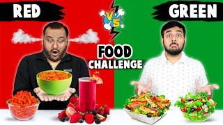 RED VS GREEN FOOD EATING CHALLENGE | Epic Food Eating Competition | Food Challenge | Viwa Food World