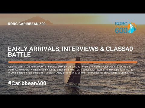 2019 RORC Caribbean 600 | Early Arrivals, Interviews & Class40 Battle