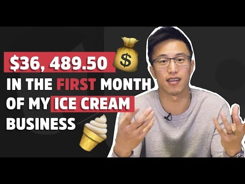How We Made $36,489.50 In Our FIRST Month Of Our Ice Cream Business!!!