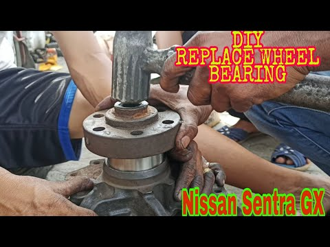 How to replace wheel bearing DIY Nissan Sentra GX