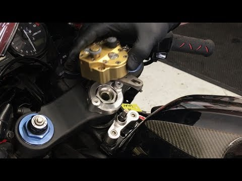 Scotts Steering Damper Installation On Cbr And Extras For The Journey To Track Days Bike