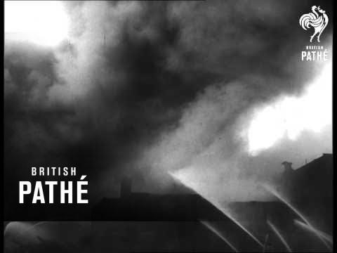 Union Stockyards Ablaze In Chicago (1956)