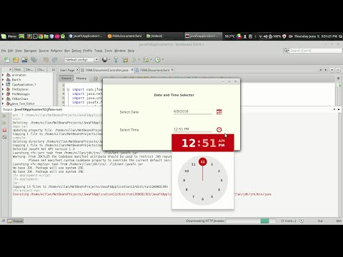 JavaFx JFoenix Tutorial #4 : Date and Time Picker
