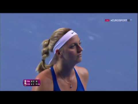 Caroline Garcia VS Petra Kvitova Fed Cup
