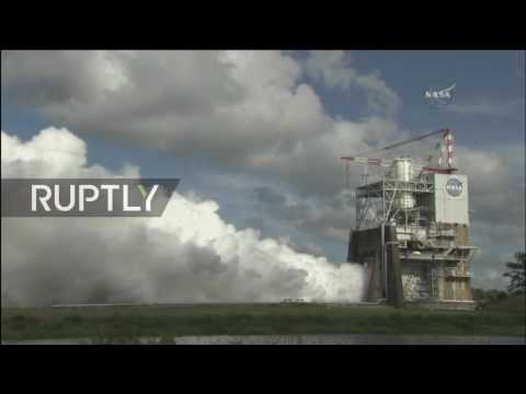 LIVE: NASA to test rocket engine that will take the SLS to Mars