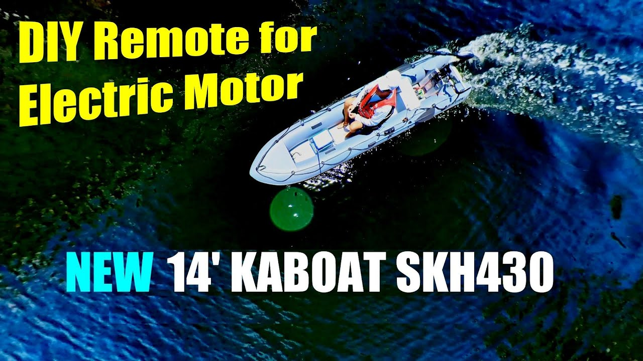 Saturn KaBoat SKH430 with Electric Trolling Motor.  Inflatable boat with electric outboard, remote.