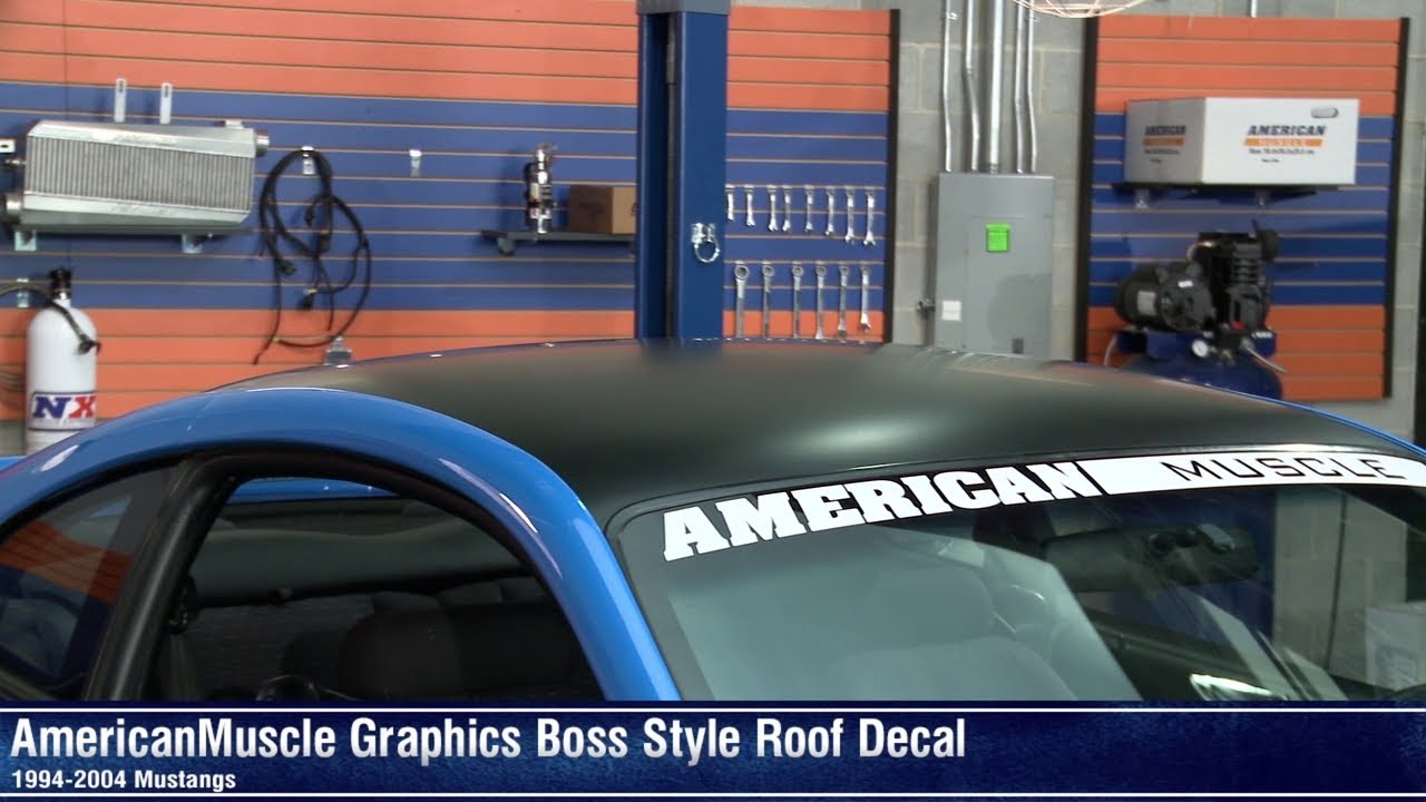 Mustang Boss Style Roof Decal 94 04 All Review Youtube
