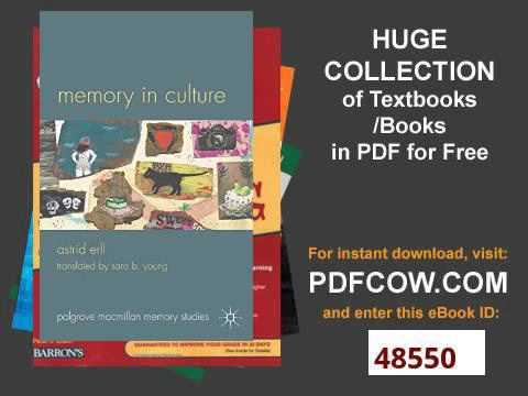 Memory in Culture Palgrave Macmillan Memory Studies