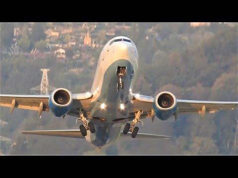 Авиакомпания Победа. Boeing 737-800 Взлет посадка. Аэропорт Сочи.