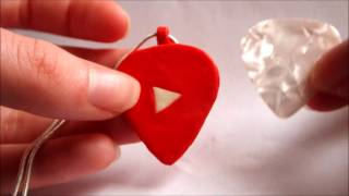 DIY Guitar Pick Holder PENDANT (YouTube Play Button Inspired)