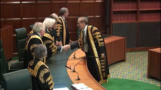 Swearing In of President, Deputy President and Justices