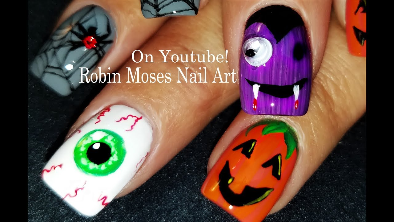 cute and easy diy halloween nails