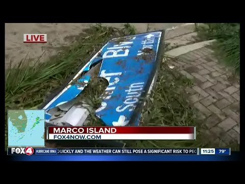 A look at some storm damage on Marco Island after Hurricane Irma