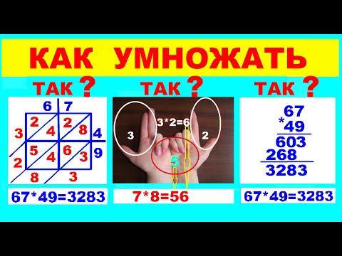 Как  умножать  Способы  Решетка Аль Хорезми  Как умножать  на пальцах  Таблица  умножения на пальцах