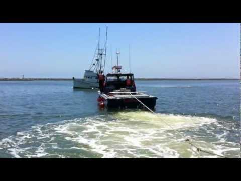 Pillar Point Harbor Patrol tow net pen