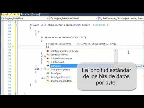 Control del Puerto Serial con C# en Visual Studio 2015 Community