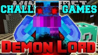 PopularMMOs Pat and Jen Minecraft: DEMON LORD CHALLENGE GAMES - Lucky Block Mod - Modded Mini-Game